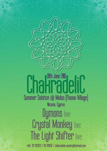 Party Flyer ChakradeliC Summer Solstice Festival 18 Jun '11, 19:00