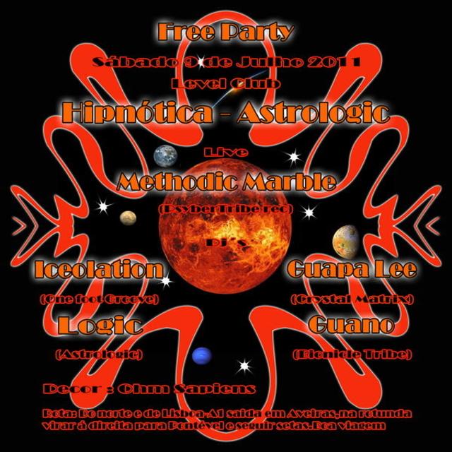Free party Hipnótica & Astrologic 9 Jul '11, 23:30