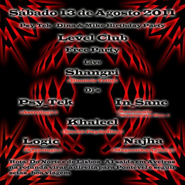 free party Level Club / Psy_Tek birthday party 13 Aug '11, 23:30