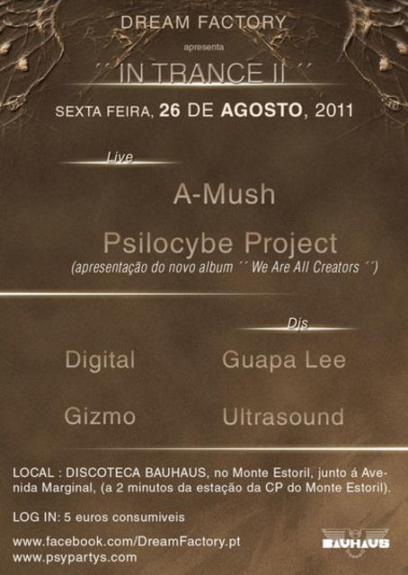 Party Flyer DREAM FACTORY apresenta ´´ IN TRANCE II´´ BAUHAUS - ESTORIL 26 Aug '11, 23:30