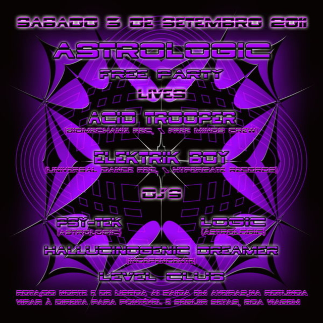 Astrologic free party 3 Sep '11, 23:30