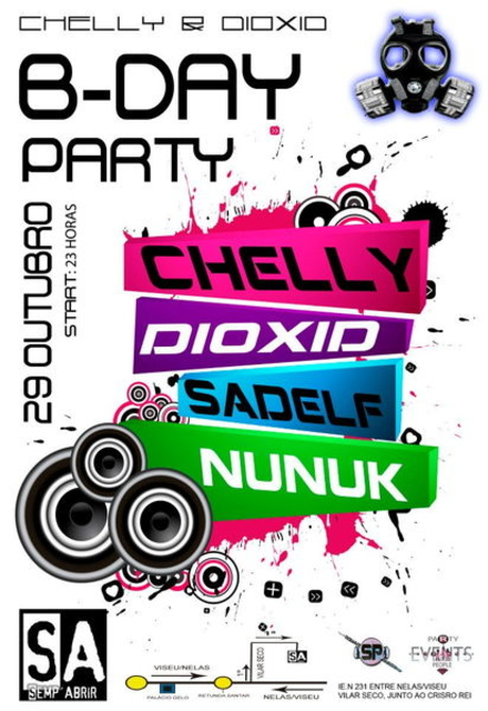 Party Flyer CHELLY&DIOXID B-DAY Party! 29 Oct '11, 23:00