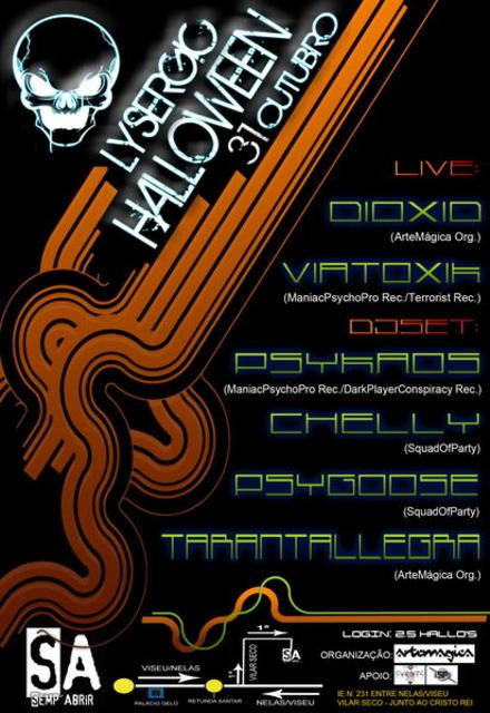 Party Flyer Lysergic Halloween 31 Oct '11, 22:30