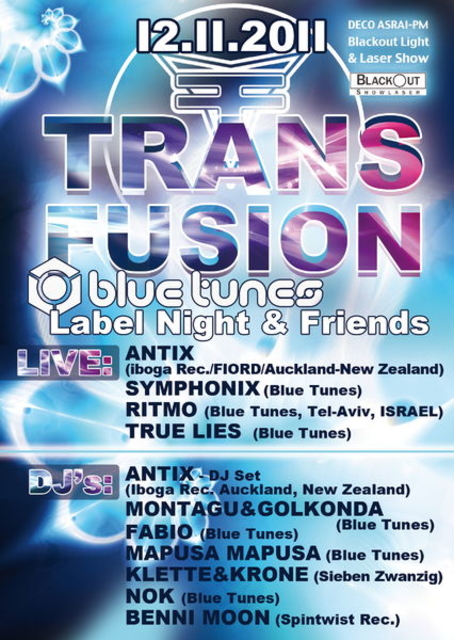 TransFusion pres. Blue Tunes Label Night + Friends 12 Nov '11, 22:00