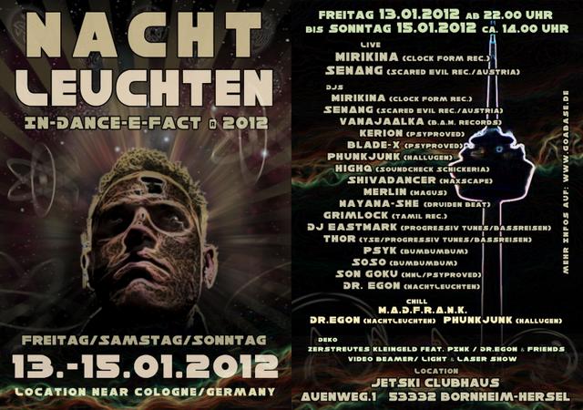 Party Flyer In-Dance-E-Fact@2012 13 Jan '12, 22:00
