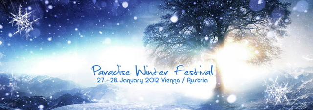 Party Flyer PARADISE WINTER FESTIVAL 2012 ** 7 Liveacts ** 27 Jan '12, 22:00