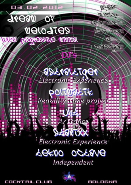 Party Flyer DREAM OF MELODIES ♪ ♫ 3 Feb '12, 22:00