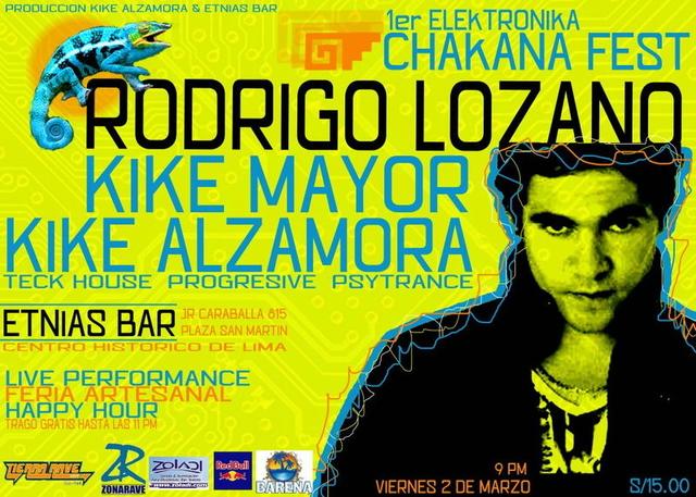 Party Flyer 1er CHAKANA FEST- en el Centro Historico de Lima 2 Mar '12, 22:00
