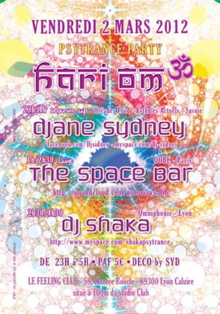 Party Flyer 02/03/12 Hari Om Psytrance party LYON 2 Mar '12, 23:00