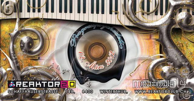 Party Flyer Live SYNSONIQ ॐProgressPSYchedelicॐ Club Reaktor Winterthur 2 Mar '12, 23:00