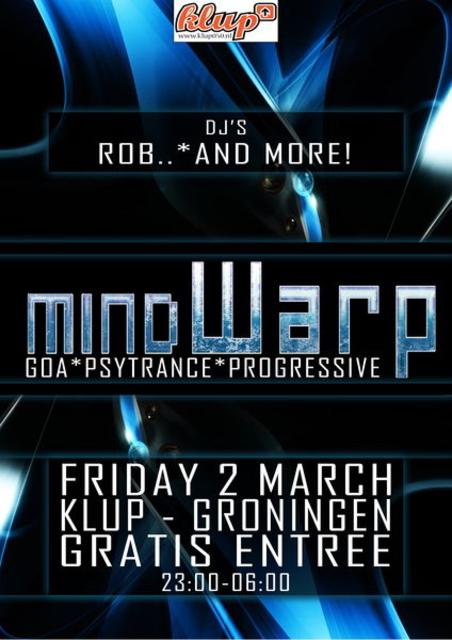 Party Flyer Mindwarp - Bionic EP Release Edition 2 Mar '12, 23:00