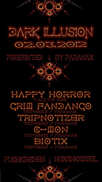 Party Flyer PARANAX´s - Dark Illusions 2 Mar '12, 22:00