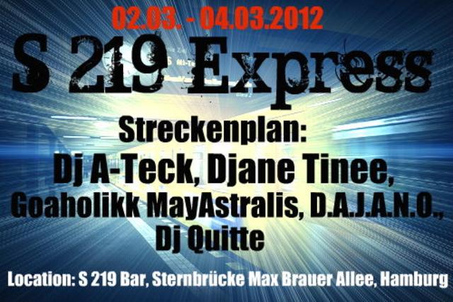 Party Flyer S 219 Express (Best of Psy,Progressive & FullOn) 2 Mar '12, 22:00