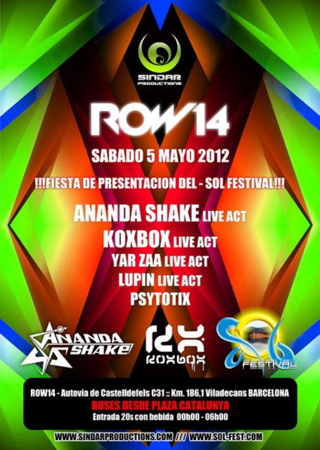 Party Flyer Sindar presenta: SOL FESTIVAL launch party 5 May '12, 23:30