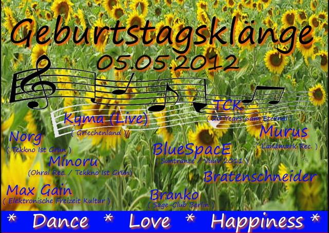 Party Flyer Geburtstagsklänge 2012 5 May '12, 19:00