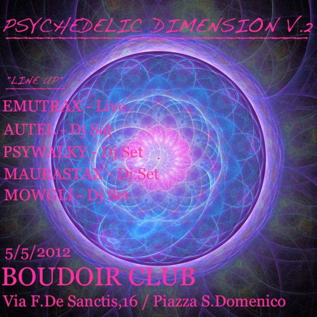 Party Flyer >>> PSYCHEDELIC DIMENSION Vol.2 <<< 5 May '12, 23:00