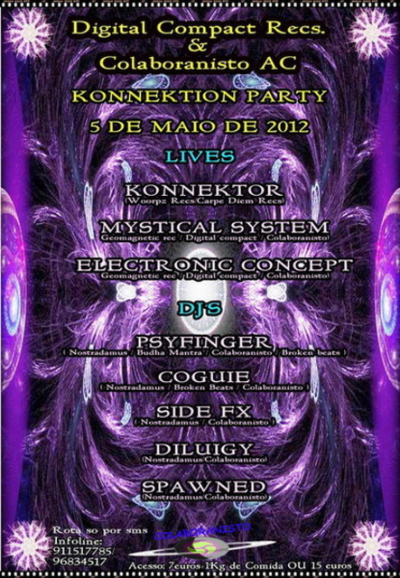 Party Flyer KONNEKTION PARTY by Digital Compact Recs & Colaboranisto AC 5 May '12, 23:30