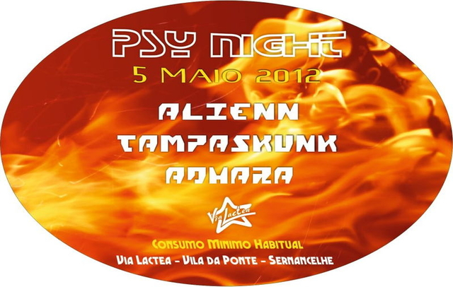 Party Flyer PSY NIGHT 5 May '12, 23:00