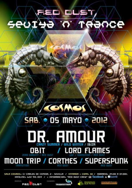 Party Flyer SEVIYA 'N' TRANCE ●ૐ● SALA COSMOS 5 May '12, 23:30