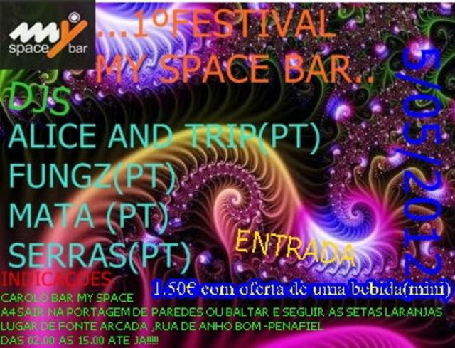 Party Flyer 1º FESTIVAL 12ANOS DE CASA 5 May '12, 23:30
