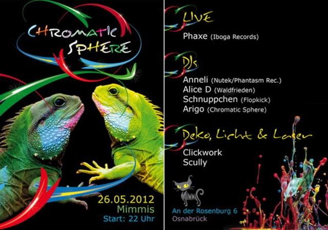 Chromatic Sphere PHAXE LIVE + DJ ANNELI 26 May '12, 22:00