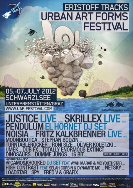 Party Flyer PARADISE FESTIVAL & COSMIC @ Urban Art Forms Festival 6 Jul '12, 15:00