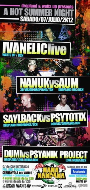Party Flyer A HOT SUMMER NIGHT@MAMAMANDAWA CLUB 7 Jul '12, 23:30