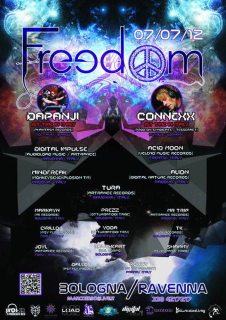 Party Flyer -[ FREEDOM ]- Dapanji live + Connexx live 7 Jul '12, 22:00