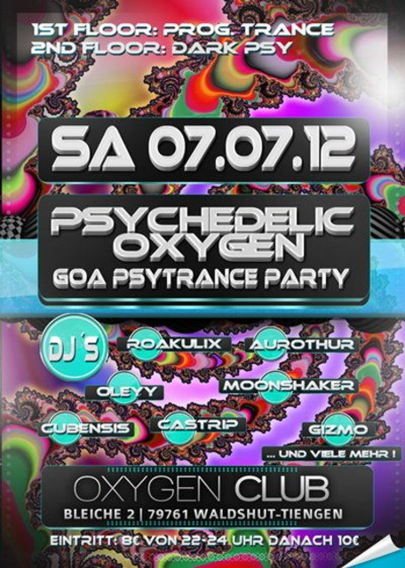 Party Flyer PSYCHEDELIC OXYGEN *near Bodensee* 7 Jul '12, 22:00
