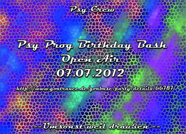 Party Flyer PsyProg Birthday Bash Open Air 7 Jul '12, 22:00
