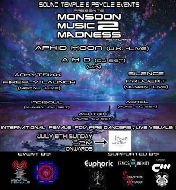 Party Flyer MONSOON MUSIC MADNESS 2.0 8 Jul '12, 18:00