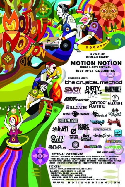 Party Flyer Motion Notion Festival 19 Jul '12, 12:00