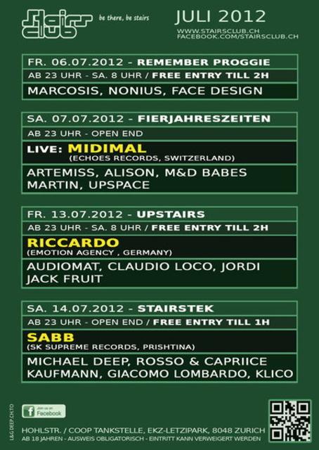 Classics at Stairs Club 21 Jul '12, 23:00