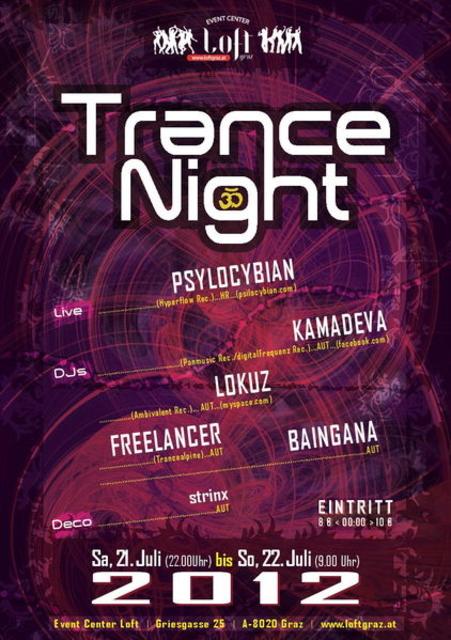"EC Loft ""Summer- Trance Night"" with PSILOCYBIAN LIVE 21 Jul '12, 22:00"