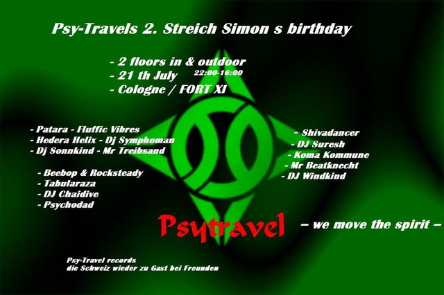 Psy-Travel s 2. Streich in Köln. Simons birthday 21 Jul '12, 22:00