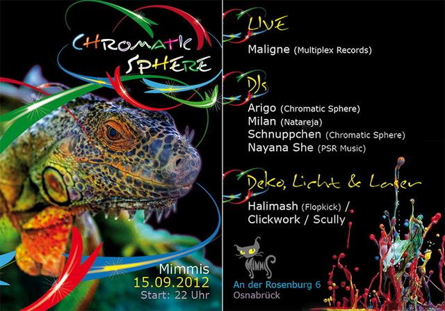 Chromatic Sphere 15 Sep '12, 22:00