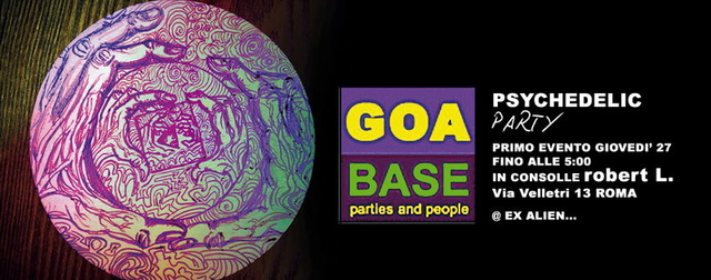 Party Flyer Psychedelic GOA TRANCE FREEPARTY - ROBERT L @ EX ALIEN 27 Sep '12, 22:00