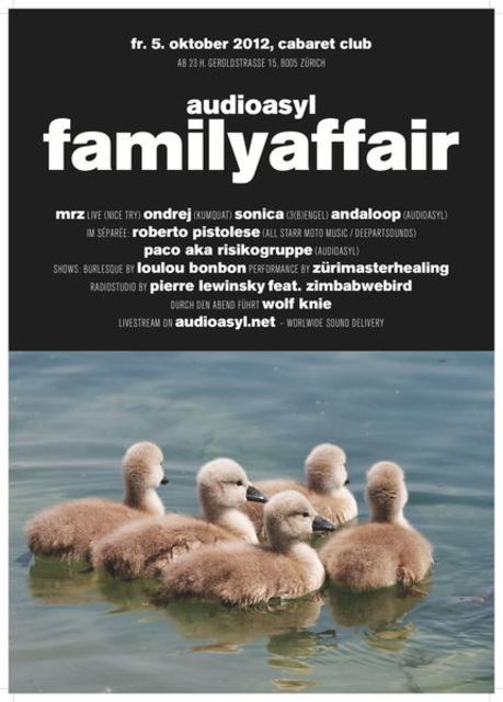 Party Flyer audioasyl familyaffair 5 Oct '12, 23:00