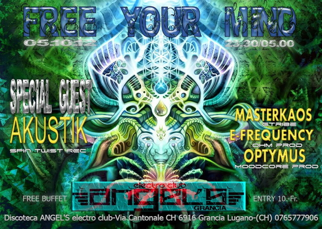 Party Flyer FREE YOUR MIND 5 Oct '12, 23:30