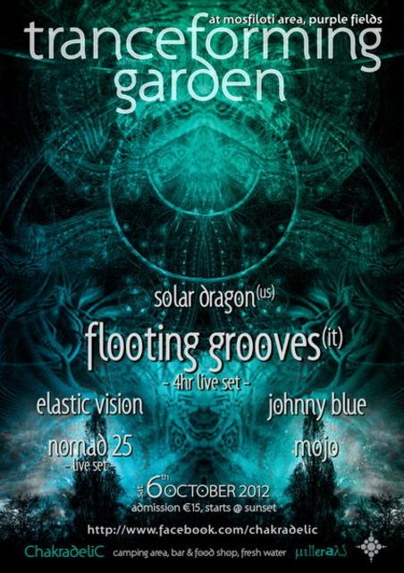 Party Flyer Tranceforming Garden 6 Oct '12, 18:30