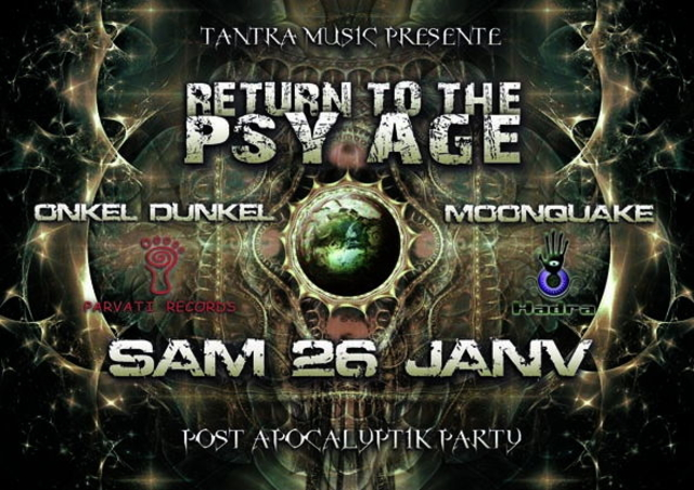 Party Flyer RETURN TO THE PSYAGE 26 Jan '13, 23:00