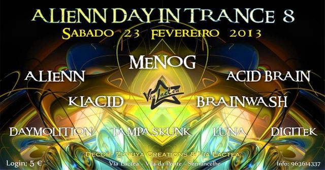 Party Flyer ALIENN DAY IN TRANCE 8 23 Feb '13, 23:30