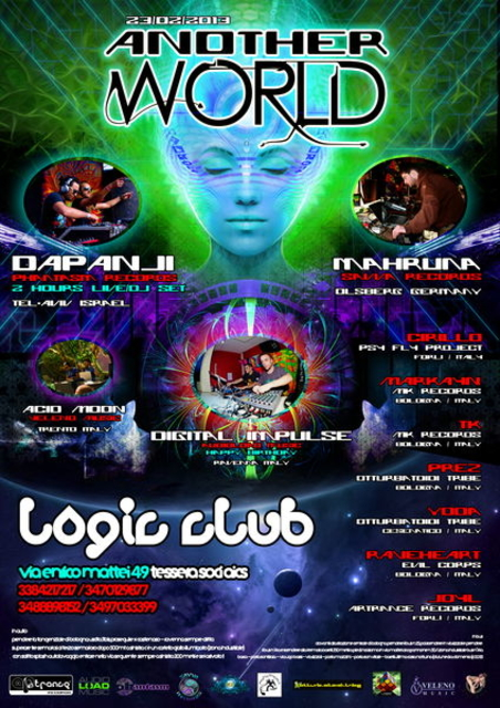 Party Flyer ॐ ANOTHER WORLD ॐ Dapanji Live + Dj Set 23 Feb '13, 23:00