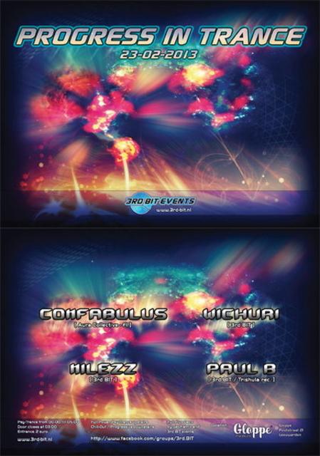 Party Flyer Progress In Trance 23 Feb '13, 23:30