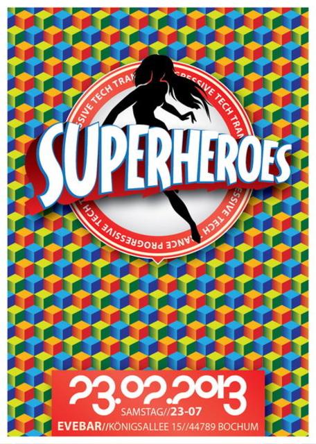 Party Flyer SUPERHEROES 23 Feb '13, 23:00