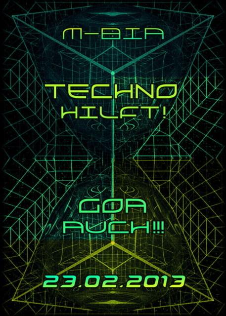 Party Flyer TechnoHilft! Goa auch! Soliparty 23 Feb '13, 23:00