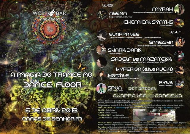Party Flyer A MAGIA DO TRANCE NO DANCEFLOOR 6 Apr '13, 23:30