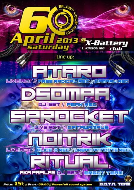 Party Flyer Blast your mind 6-4-2013 6 Apr '13, 22:30