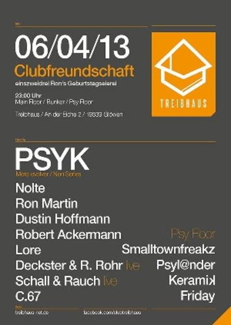 Party Flyer Clubfreundschaft & Ron´s Geburtstagseierei 6 Apr '13, 23:00