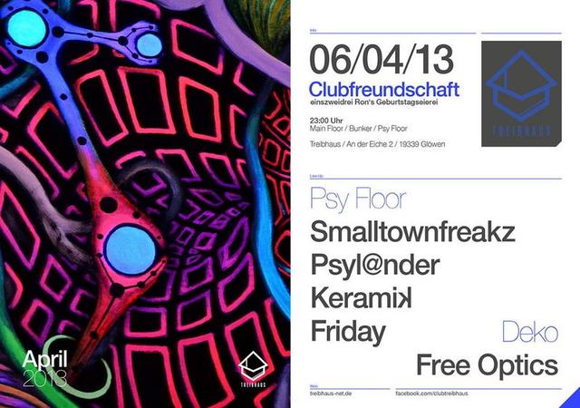 Party Flyer einszweidrei Ron Martin's Geburtstagseierei 6 Apr '13, 23:00